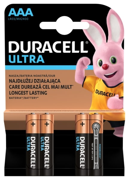 Элемент питания Duracell LR03-4BL Ultra Power